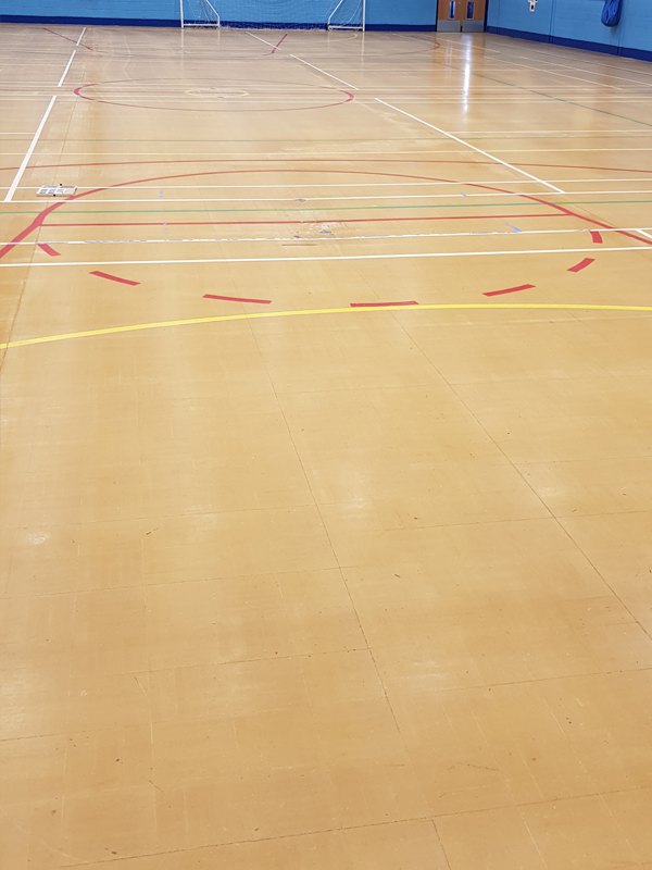 Image of block flooring waiting to be laid